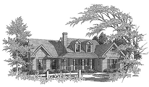 Ranch House Plan 58158 Elevation