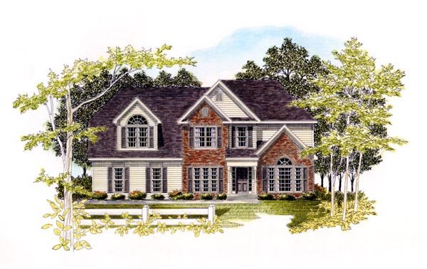 Traditional House Plan 58159 Elevation