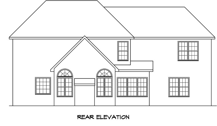 Traditional House Plan 58159 Rear Elevation