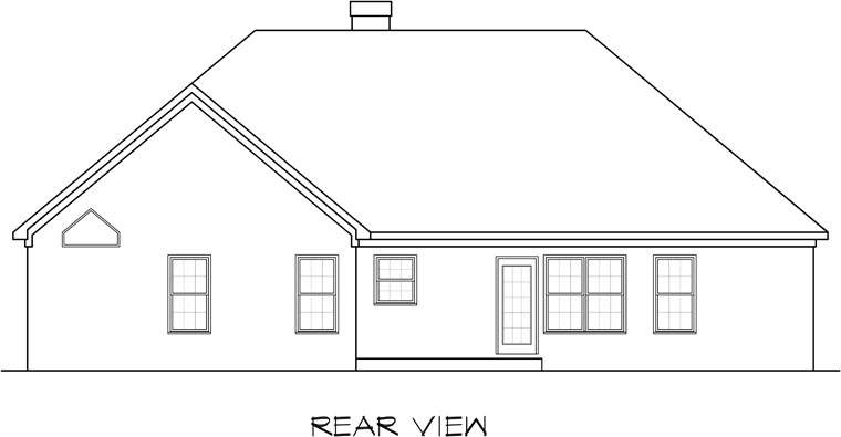 Traditional House Plan 58162 Rear Elevation