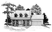 Plan Number 58163 - 1362 Square Feet