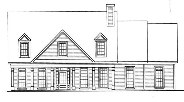 Cape Cod House Plan 58164 with 4 Beds, 3 Baths, 2 Car Garage Elevation