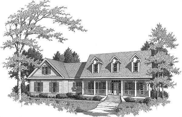 Cape Cod House Plan 58165 Elevation