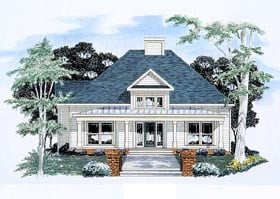 Traditional House Plan 58166 Elevation