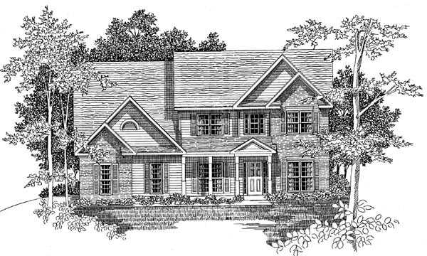 Traditional House Plan 58169 Elevation