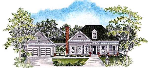 House Plan 58174 Elevation