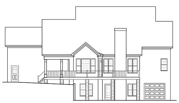 Traditional House Plan 58177 Rear Elevation