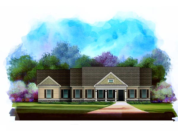 Traditional House Plan 58180 Elevation
