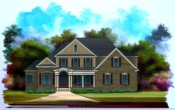 Craftsman House Plan 58183 with 4 Beds, 4 Baths, 2 Car Garage Elevation