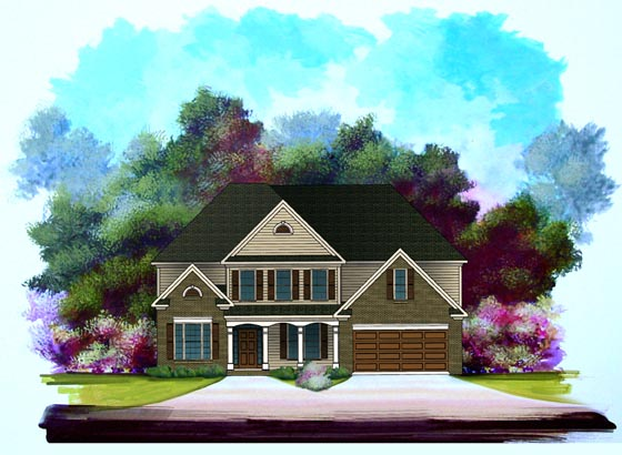 Traditional House Plan 58184 Elevation