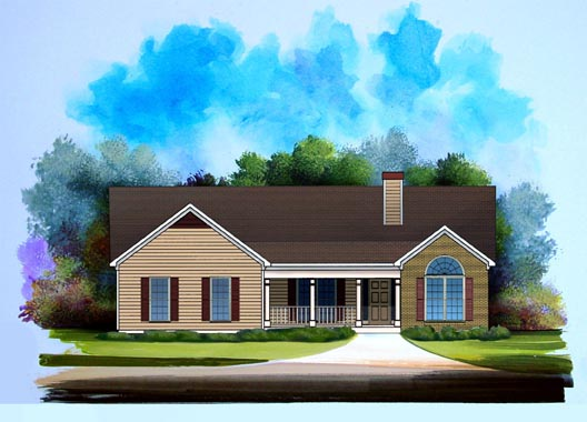 Ranch House Plan 58185 Elevation