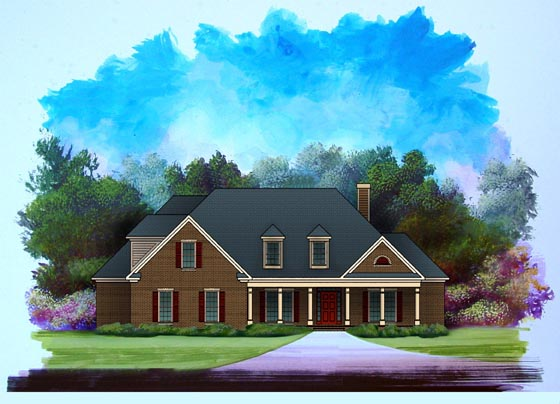 Traditional House Plan 58187 Elevation