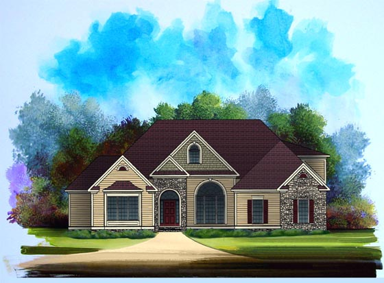Craftsman House Plan 58188 Elevation