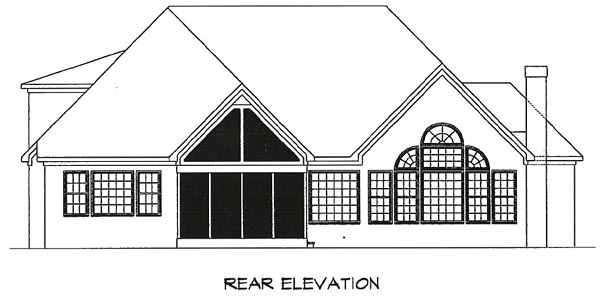 Craftsman House Plan 58188 Rear Elevation