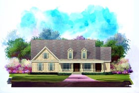 Country House Plan 58193 Elevation