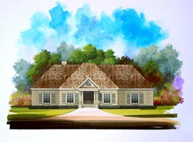 Traditional House Plan 58195 with 3 Beds, 3 Baths, 2 Car Garage Elevation