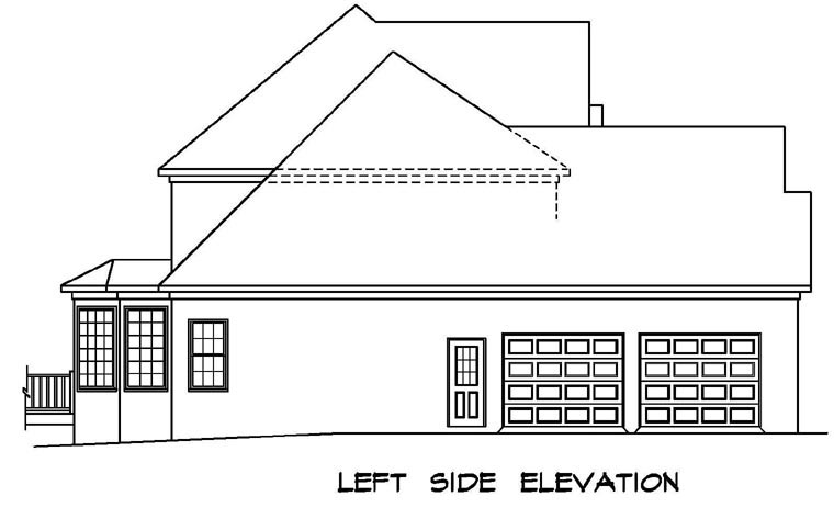 Traditional House Plan 58196 with 4 Beds, 4 Baths, 2 Car Garage Picture 1