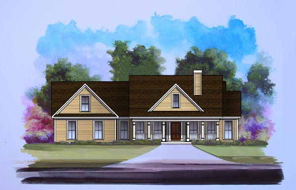 Craftsman House Plan 58197 Elevation
