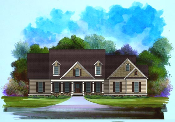 Craftsman House Plan 58198 Elevation