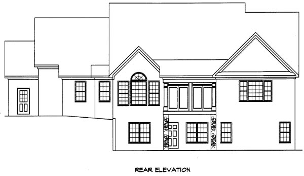 House Plan 58198 | Craftsman Style Plan with 2524 Sq Ft, 3 Bed, 3 Bath, 2 Car Garage Rear Elevation
