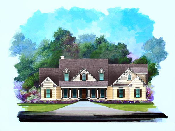 Craftsman House Plan 58199 Elevation