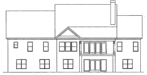 Craftsman House Plan 58199 Rear Elevation
