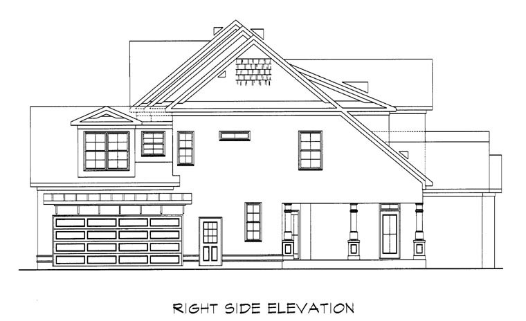 Craftsman House Plan 58201 with 4 Beds, 4 Baths, 2 Car Garage Picture 2