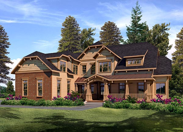 Craftsman French Country House Plan 58202 Elevation