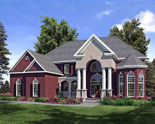 Traditional House Plan 58203 Elevation