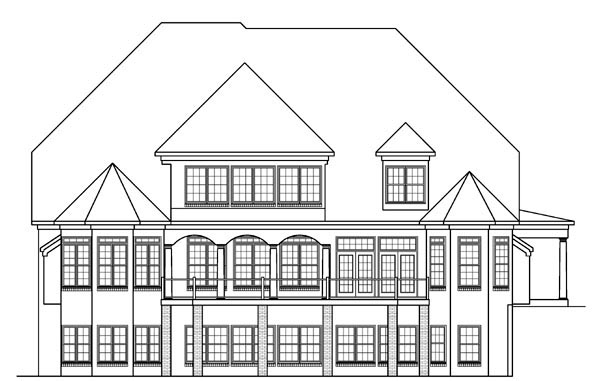 Traditional House Plan 58203 Rear Elevation