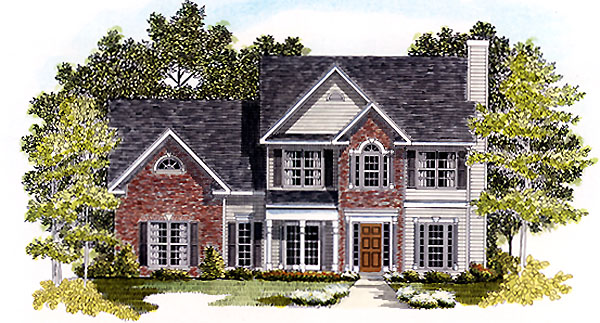 Traditional House Plan 58205 Elevation