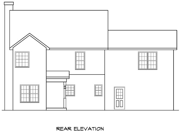 Traditional House Plan 58205 Rear Elevation