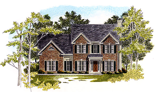 Traditional House Plan 58206 Elevation