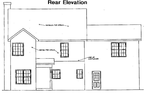 Traditional House Plan 58206 Rear Elevation