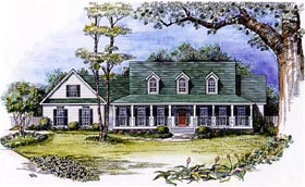 House Plan 58207 | Cape, Cod Style House Plan with 2202 Sq Ft, 3 Bed, 3 Bath, 2 Car Garage Elevation