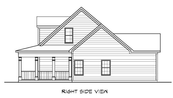Cape Cod House Plan 58207 with 3 Beds, 3 Baths, 2 Car Garage Picture 2