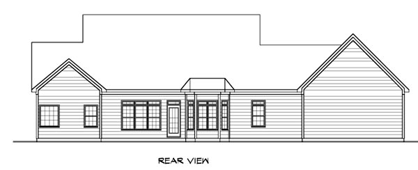 Cape Cod House Plan 58207 Rear Elevation