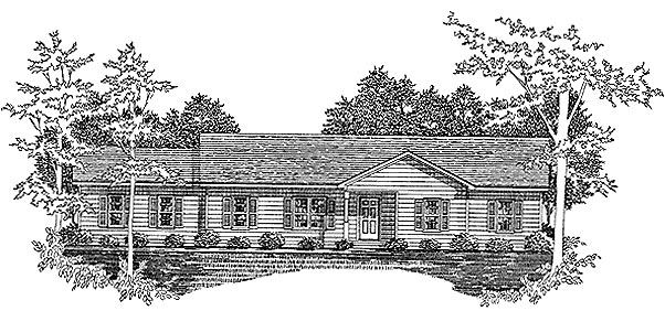 Ranch House Plan 58209 Elevation