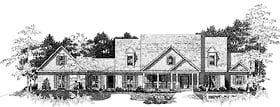 House Plan 58211 | Traditional Style Plan with 4089 Sq Ft, 4 Bed, 4 Bath, 3 Car Garage Elevation