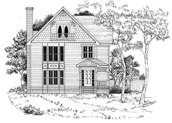 Traditional House Plan 58212 Elevation