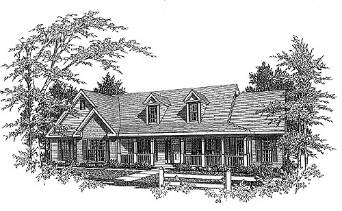 Traditional House Plan 58213 Elevation