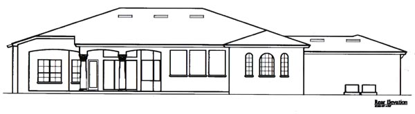 Traditional House Plan 58213 Rear Elevation