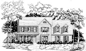 Traditional House Plan 58216 Elevation