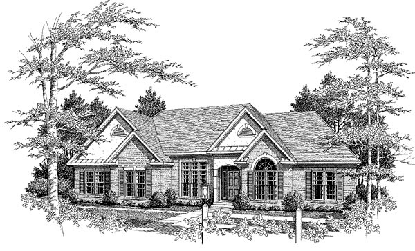 Traditional House Plan 58220 Elevation
