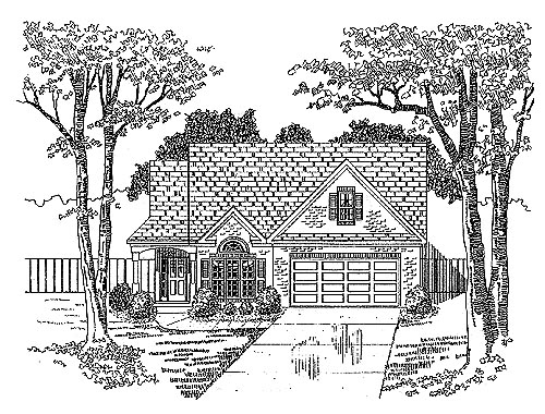 Traditional House Plan 58223 with 2 Beds, 2 Baths, 2 Car Garage Elevation