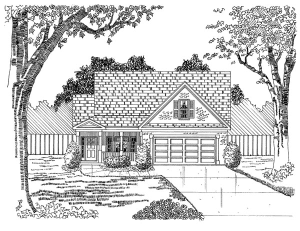 Traditional House Plan 58224 Elevation
