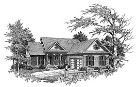 Traditional House Plan 58225 Elevation