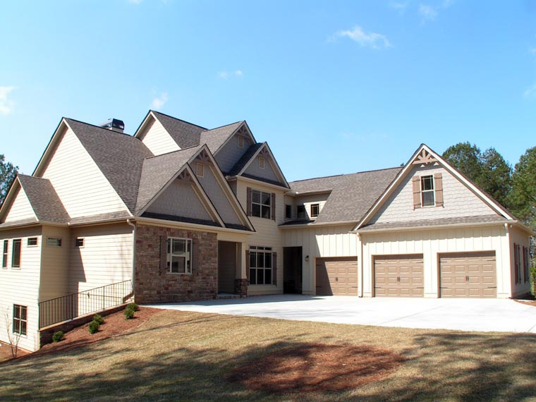 Craftsman, Traditional House Plan 58227 with 4 Beds, 4 Baths, 3 Car Garage Picture 1