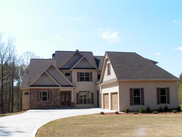 Craftsman, Traditional House Plan 58227 with 4 Beds, 4 Baths, 3 Car Garage Picture 2