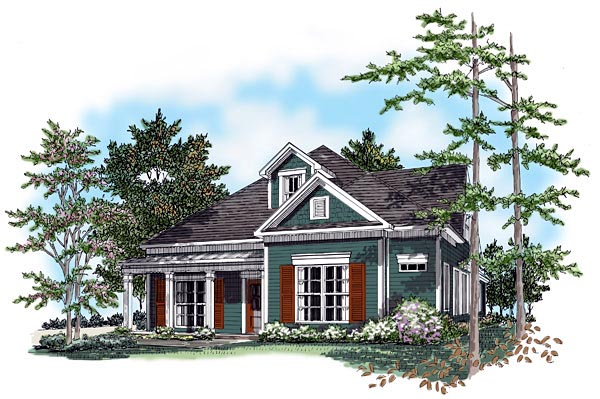 House Plan 58228 Elevation